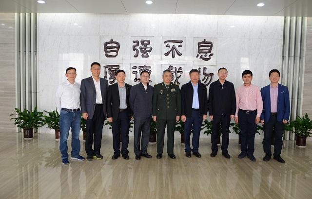 中央军委科技委主任刘国治一行到访研究院
